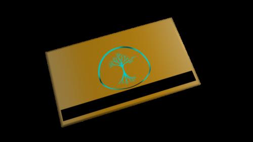 Garden Key Card Texture