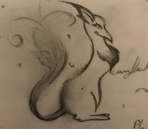 Quick Doodle: Squirrel Creature
