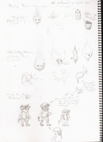 BlueCap & George the Minor Character Concepts