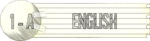 1A English Room Label