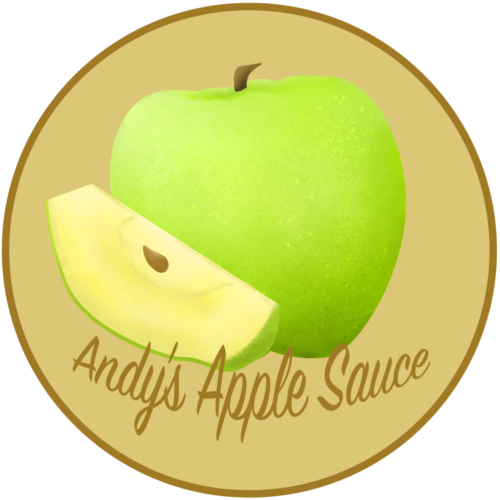 Andy's Apple Sauce Label