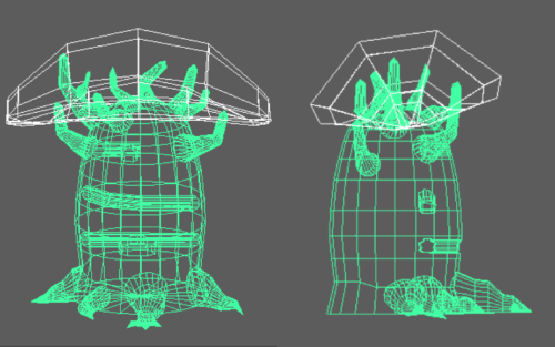 Elohim 3D Model Wireframe