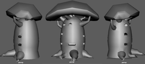 Elohim 3D Model Untextured