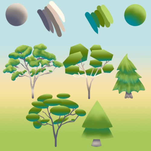 Low Poly Tree Concepts