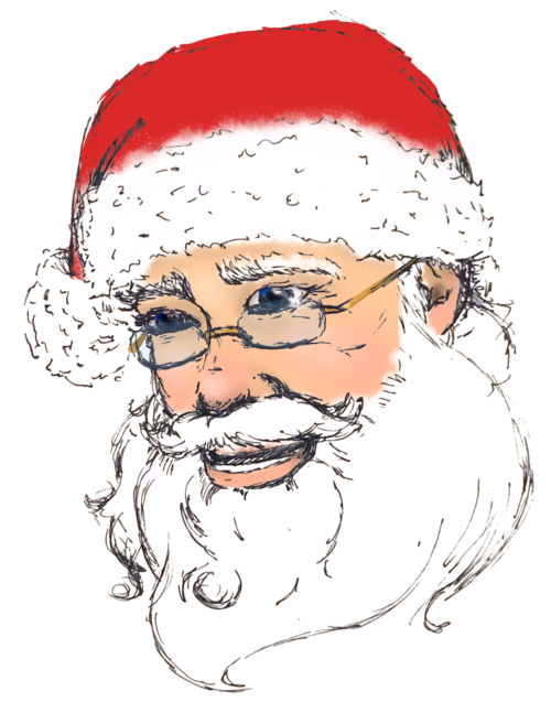Rosy Nosed Santa Clause