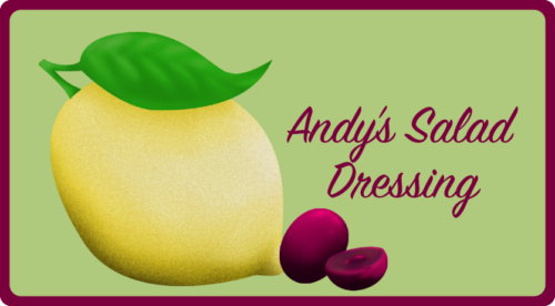 Andy's Salad Dressing Label